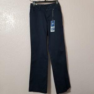 Lee Women Trouser Blue Pants Size 4 Mid Rise Curvy